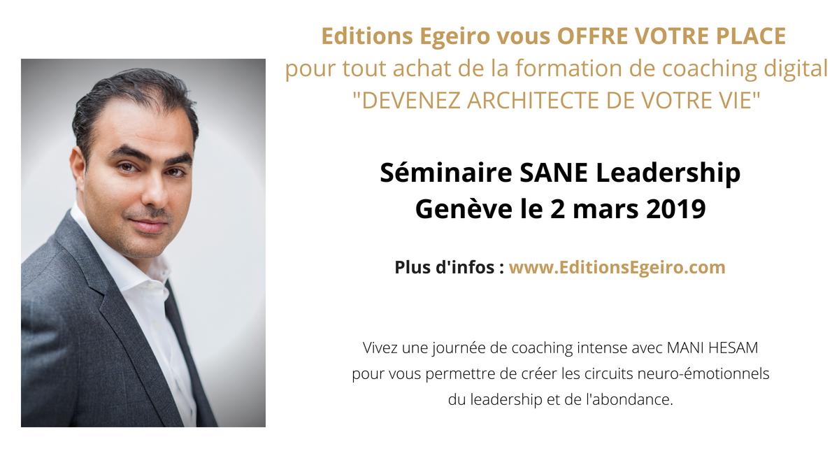 2 Mars 2019, Genève - Séminaire SANE Leadership