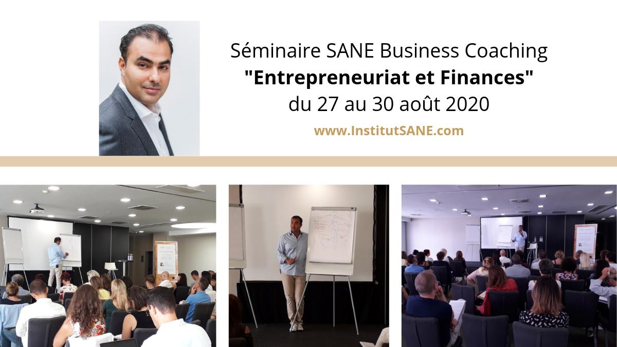 du 27 au 30 août 2020, Paris - SANE Business Coaching animé par M. Hesam
